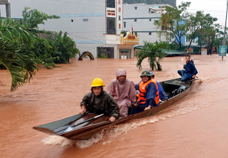 Inondations actuelles au Vietnam