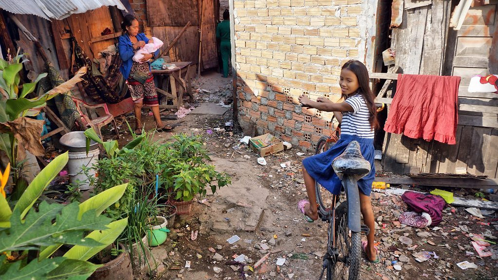Bidonville de Boeng Trabek, Phnom Penh