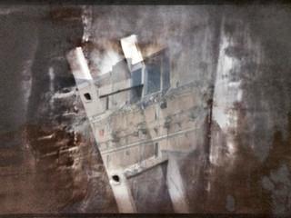 Van Dyke brown print over digital print on Rives BFK water color paper