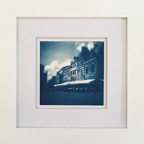 Original Cyanotype with Facades (framed)