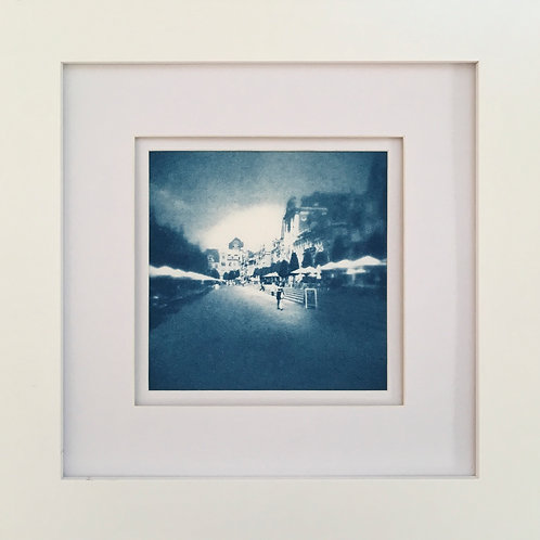 Original Cyanotype Market Square #1 (framed)