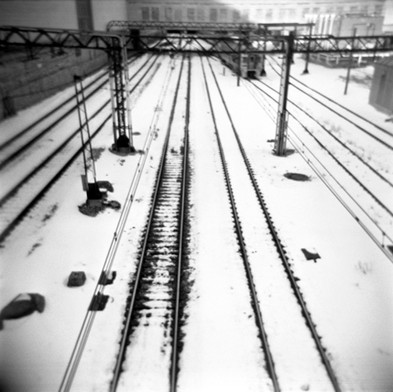 Railway in the Snow