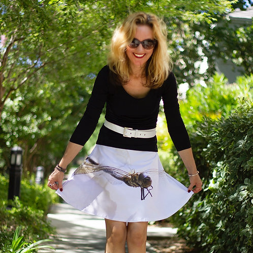 Dragonfly flare skirt