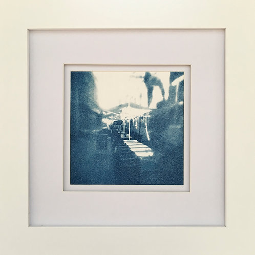 Original Cyanotype Restaurant Tables #1 (framed)