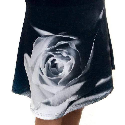 Mystery Rose flare skirt