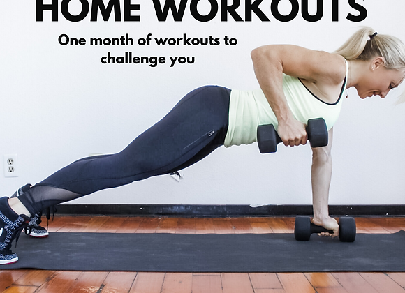 1 MONTH HOME WORKOUTS