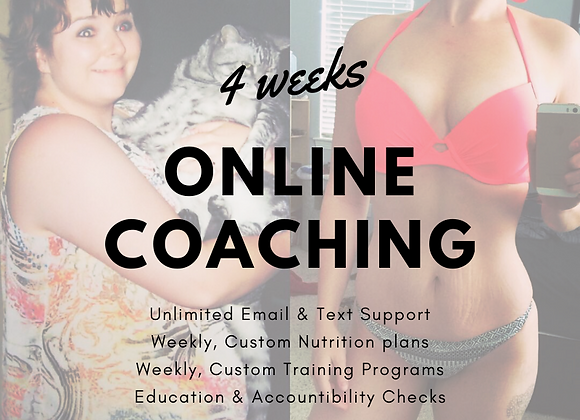 ONLINE COACHING, 4 weeks