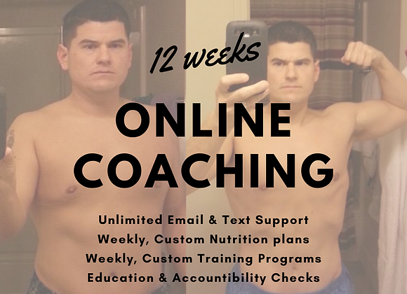 ONLINE COACHING, 12 week package