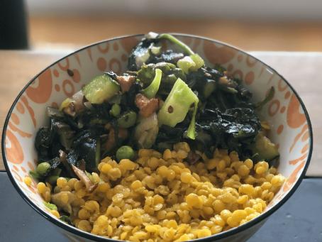 Protein Boost ~ lentil stir fry | VG