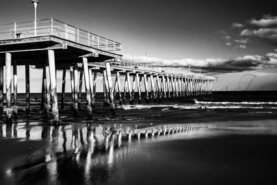 Ventnor Pier, B&W