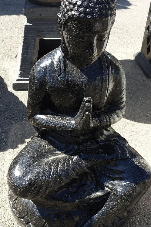 Sitting Buddha hand folded