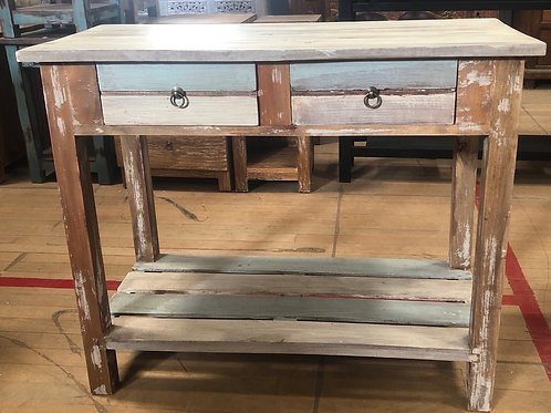 Boat Wood Style Hall Table 2 DRW