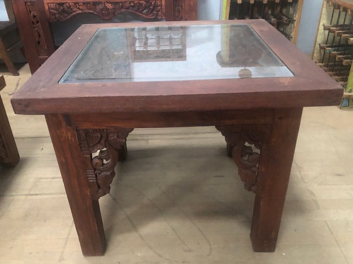 Teak Coffee Table with Glass top (Tall)
