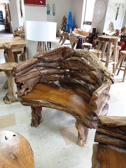 Teak root king chair