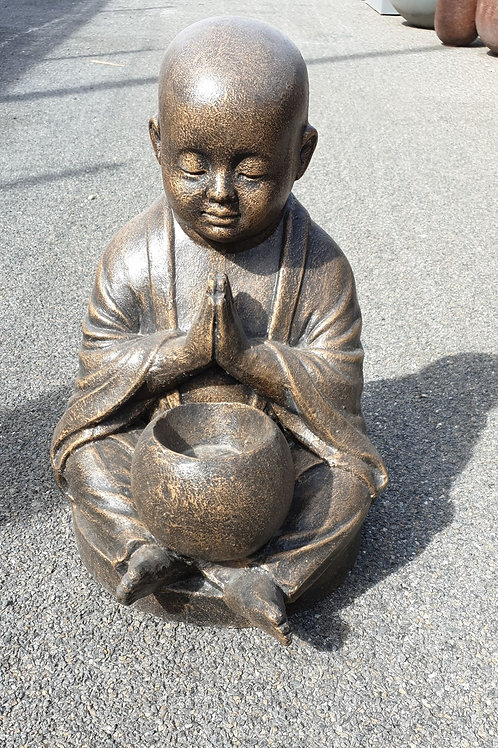 Monk with a bowl in his legs