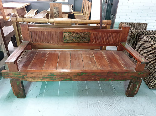 Solid teak bench/daybed