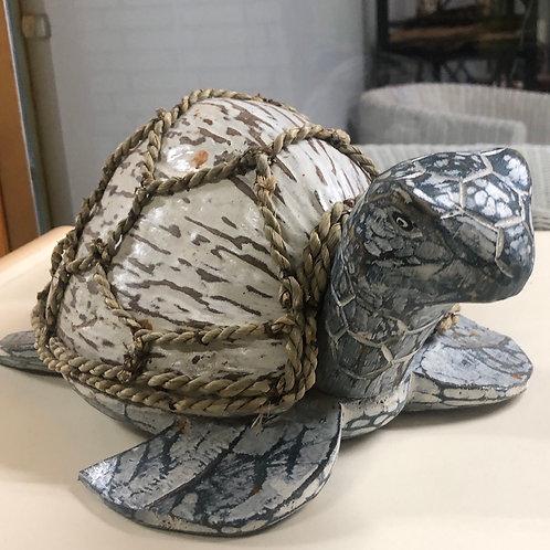Turtle and Net Carved