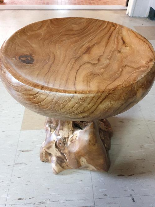 Teak root small stool