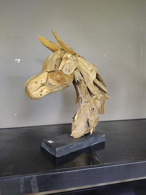 Teak Horse Head