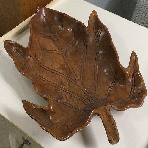 Leaf Bowl Wooden  40cm