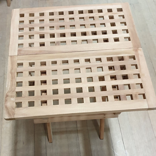 Small teak folding table