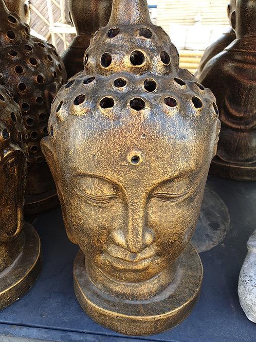 Candle holder Buddha head