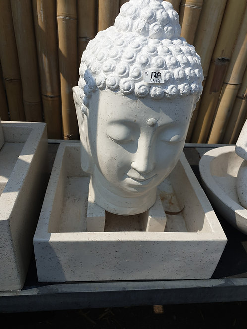 Small buddha face water feature