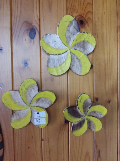 Wall art frangipani
