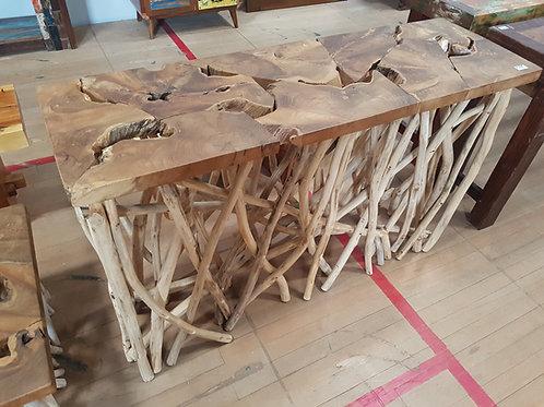 TEAK ROOT BRANCH SIDE TABLE