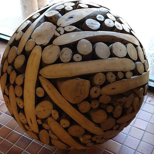 Artistic wooden ball