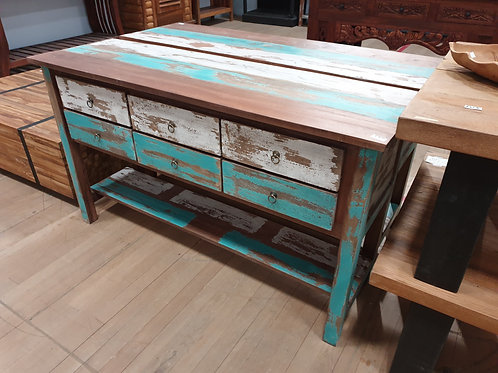 CONSOLE TABLE 6 DRAWS