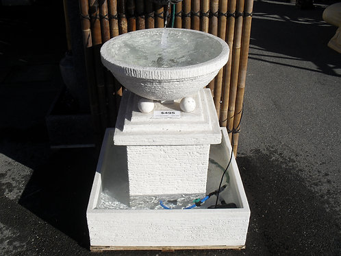 WATER FEATURE BOWL WITH 4 BALLS