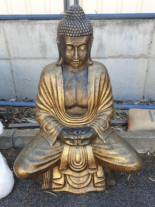 Sitting buddha on a lotus
