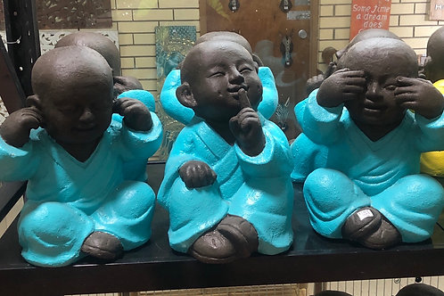Baby Buddha See No Hear No Speak No (3 Set) Colours may vary