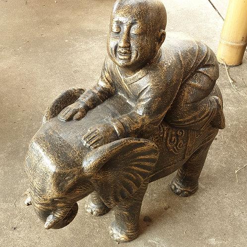 Monk on elephant