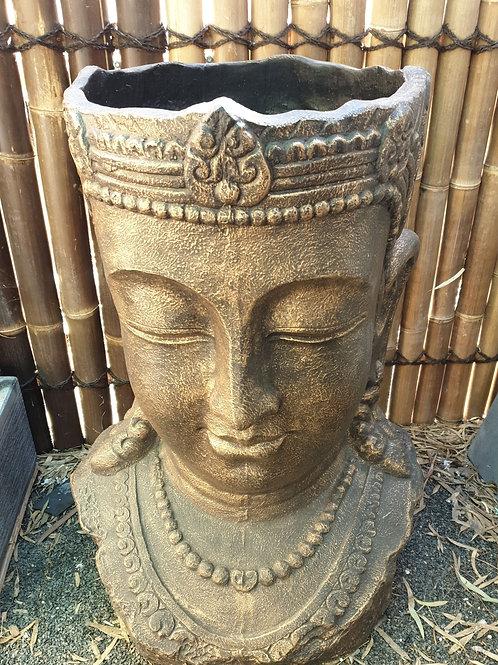 Buddha head pot