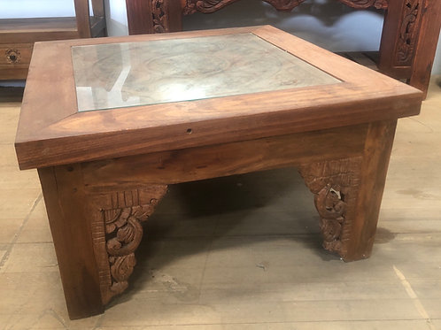 Solid Teak Coffee table with Glass Top