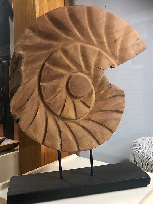 Sea Shell Carved Sculpture 60cm