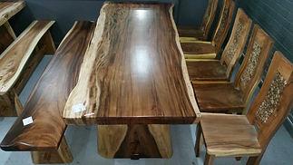 TEAK SLAB TABLE
