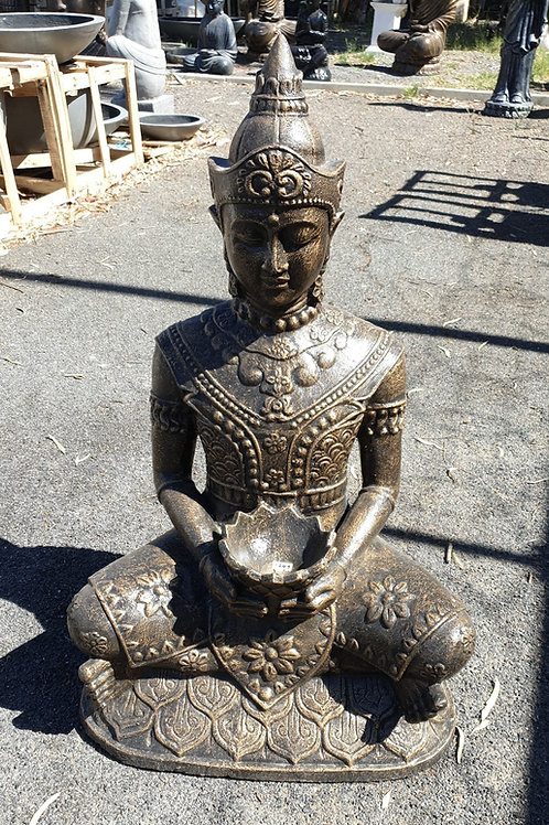 Balinese prince lotus in hand statue