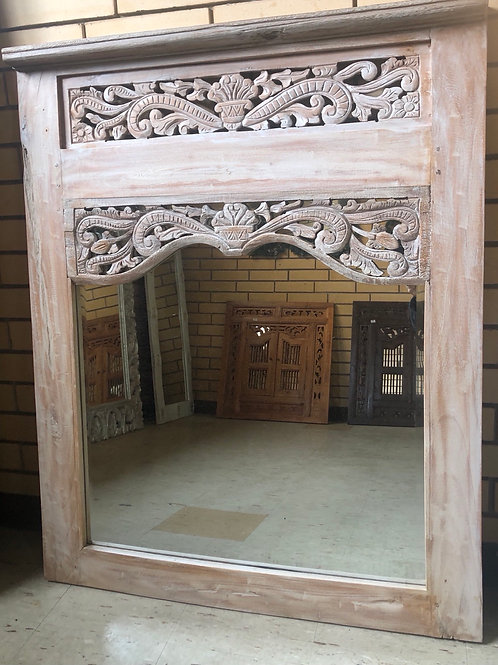 Balinese Style Carved Mirror