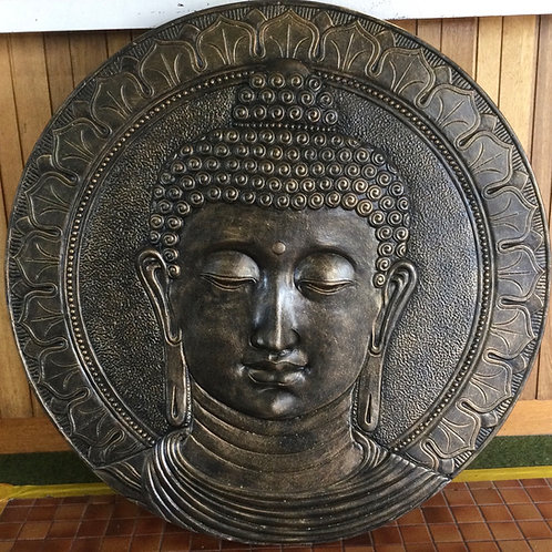 Round Buddha Face Plaque (ORDER ONLY)