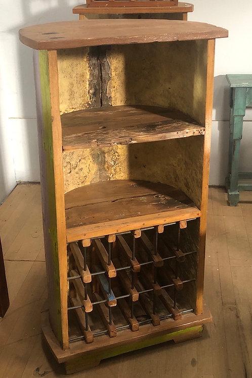 Solid Teak 15 Bottle Wine Storage Rack