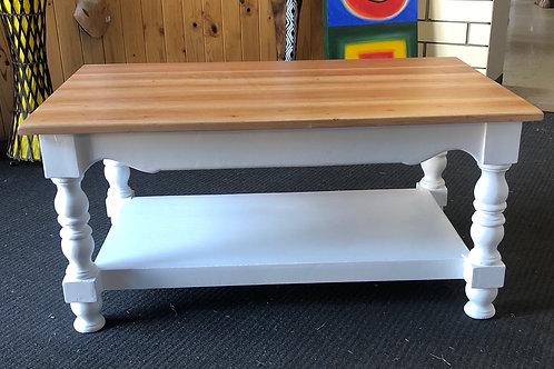 Rectangular Coffee Table white/Teak