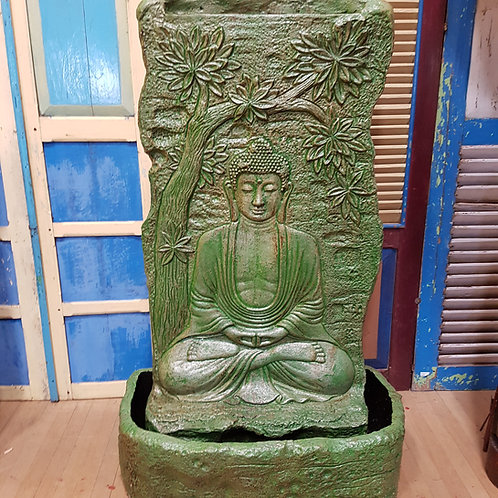 WATER FEATURE SITTING BUDDHA UNDER TREE