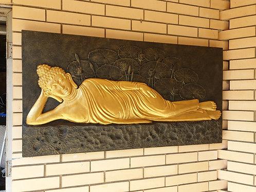 Lazy Buddha wall plaque