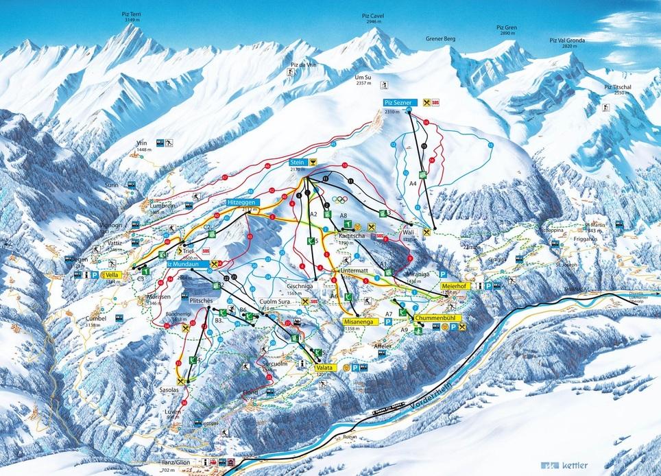 Ski area Obersaxen-Mundaun