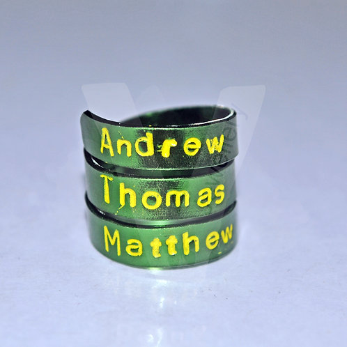 Personalised Colored Wrap Ring *2 - 4 Wrap Available