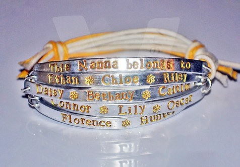 Nanny belongs to... Multi-Plate Bracelet *2 - 6 Plates Available