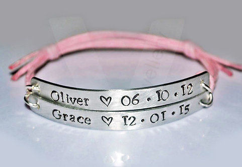 Personalised Multi-Plate Bracelet - Higher Quality *2 - 4 Plates Available